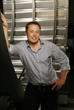 SpaceX's Elon Musk stands in front of a rocket in this 2007 file photo.