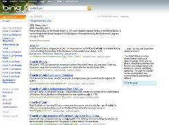 In this image provided by Microsoft, a screen shot of the Bing search engine is shown.