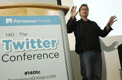 Twitter co-founder Biz Stone speaks during 140: The Twitter Conference LA in Los Angeles.