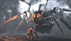 As warrior Eddie Riggs, voiced by Jack Black, you will battle huge boss enemies in 'Brutal Legend.'