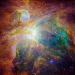 Star-forming clouds in constellation of Orion that are part of the Gould Belt