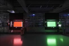 A photo of Sharp's new LCD factory in Sakai City, Japan.