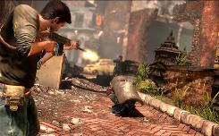 A scene from the PlayStation 3 action game 'Uncharted 2: Among Thieves.'