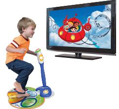 Zippity from LeapFrog's joint venture with Disney is an expandable plug-and-play video gaming system designed for kids ages 3 to 5. It comes with its own mat controller and a console unit that plugs into the TV.