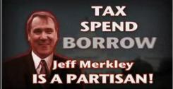This is a 2008 frame grab from an ad paid for by the National Republican Senatorial Committee warning against voting for Sen. Jeff Merkley.