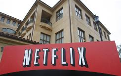 An exterior view of Netflix headquarters in Los Gatos, Calif.