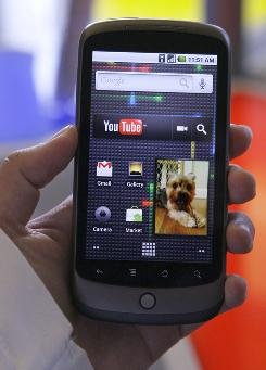The Nexus One phone from Google is shown at a demo in Mountain View, Calif.