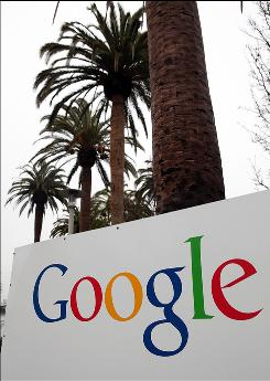 A sign is posted outside of the Google headquarters January 21, 2010 in Mountain View, California.