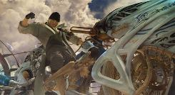 One of the lead characters, Snow, in a scene from 'Final Fantasy XIII.'