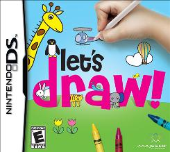 """""""Let's Draw!"""" from Majesco Entertainment for the Nintendo DS teaches kids to draw and lets them play with their drawings in games."""