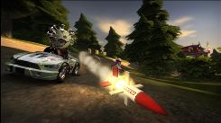 """In """"ModNation Racers"""" from Sony Computer Entertainment America for the Sony PlayStation 3 and Sony PlayStation Portable, you can select weapons to use on rival drivers to temporarily stun them, such as missiles."""