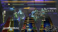 A scene from 'Rock Band 3.'