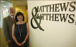 Divorce attorneys Leslie, right, and Ken Matthews are shown in the offices of their firm in Denver on June 25, 2010. They estimated 1 in 10 of their cases involves evidence plucked from social networking sites, such as Facebook.