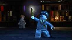 A scene from 'Lego Harry Potter: Years 1-4.' Ron Weasley and Harry Potter are presented as characters made of Lego blocks.