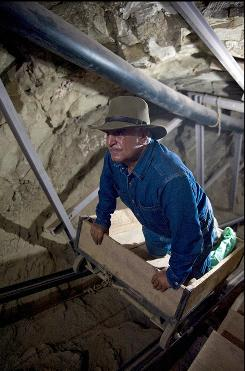 In this photo released by the Egyptian Supreme Council of Antiquities on Wednesday, June 30, 2010, Antiquities chief Zahi Hawass is seen inside an unfinished 570-foot long tunnel in Luxor, Egypt. Egypt's antiquities department has announced the completed excavation of the tunnel, first discovered in 1960 and possibly meant to be a secret tomb, stretching away from the main tomb of New Kingdom Pharaoh Seti I (1314-1304 B.C.), in the Valley of the Kings.