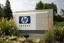 The HP logo is displayed on the entrance to the Hewlett-Packard Headquarters on September 16, 2008 in Palo Alto, California. HP is the world's biggest information-technology company by revenue.