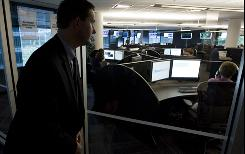 Director of Intelligence at SecureWorks, Don Jackson looks into the security operations center of his company which manages security information systems for corporations world wide. Analysts at the company worked on the investigation into last year's cyber attack that took down websites in the U.S. and South Korea.