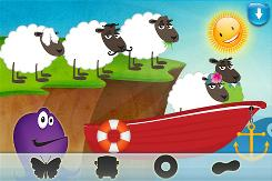 "In ""Baa Baa Black Sheep "" an app for the iPad, kids join the sheep on an adventure over and under sea while solving visual puzzles and singing the nursery rhyme."