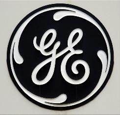 The General Electric logo is shown on a sign outside the corporate headquarters in Fairfield, Connecticut in 2003.