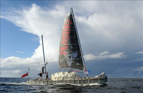 Boat of recycled plastic bottles ends 4-month Pacific sail