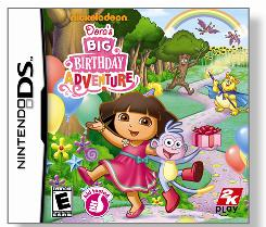 In 'Dora the Explorer: Dora's Big Birthday Adventure' video game, kids join Dora in the Wizzle World where she and her monkey buddy Boots are stuck. They want to get back home so Dora can celebrate her birthday with her family.