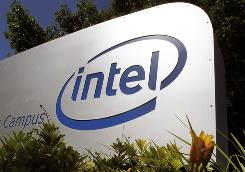 The entrance to Intel's Hawthorne Farm Campus is shown here in Hillsboro, Ore.