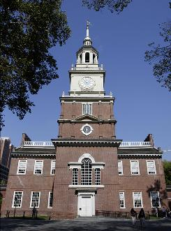 This Oct. 9, 2008 file photo, shows Independence Hall in Philadelphia.