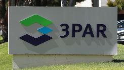 A sign is posted in front of the 3Par company headquarters on August 23, 2010 in Fremont, California.