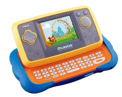 MobiGo touch learning system, a new educational gaming system by VTech, features a slide-out keyboard.