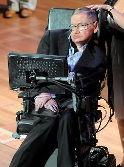 British physicist Stephen Hawking attends the 2010 World Science Festival opening night gala performance at Alice Tully Hall in New York in June.