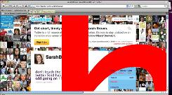 The Twitter page of Sarah Brown, wife of a former British Prime Minister, under attack by spammers. The attack redirected Brown's visitors to a Japanese porn site.