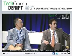 A screen shot from the TechCrunch Disrupt website.