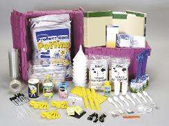 This image provided by the HandsOn Science Partnership shows a generic science kit.