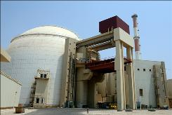 A picture shows the reactor building at the Russian-built Bushehr nuclear power plant in southern Iran on August 21, 2010.