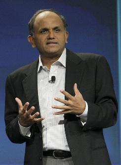 Shantanu Narayen, President and Chief Operating Officer of Adobe, speaks at the BlackBerry developers conference 2010 in San Francisco, Monday, Sept. 27, 2010.