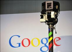 Picture taken on March 3, 2010 shows the camera of a street-view car, used to photograph whole streets, on the Google street-view stand at the CeBIT tech trade show.