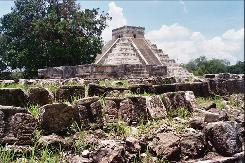 The ancient Maya city of Chichen Itza, with the main pyramid, El Castillo, in the background, in this June 2006 photo in Mexico.