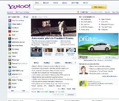 The homepage for Yahoo!. The Internet giant will launch the Yahoo Contributor Network, consisting of 400,000 freelance writers, photographers and videographers.