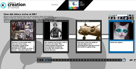 Current TV's Creation Studios website lets users collaborate on the show's story line.