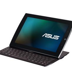 The Eee Pad Slider by Asus, a tablet computer with a keyboard that slides out of its left side.