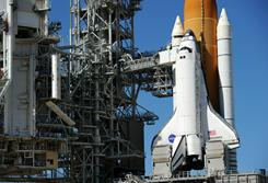 The space shuttle Discovery sits on Pad 39A at the Kennedy Space Center in Florida in November of last year.The shuttle is scheduled to launch February 24.