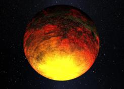 An artist's rendering of a planet provided by NASA. The agency's Kepler telescope is finding that relatively smaller planets  still larger than Earth, but tinier than Jupiter  are proving more common outside our solar system than once thought.