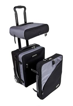 The Balanzza Truco is a three-in-one carry-on that can be taken apart as needed.
