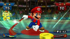 'Mario Sports Mix' is a button-pushing, wrist-flicking way to play over-the-top versions of basketball, hockey, volleyball and dodgeball.
