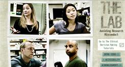 A screen grab from the interactive online movie 'The Lab: Avoiding Research Misconduct.'
