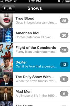 The IntoNow iPhone app recognizes the television show you're watching based on the audio it detects.