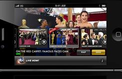 "ABC Digital's ambitious Oscar Backstage Pass app serves as a ""second screen"" companion to Sunday night's festivities."