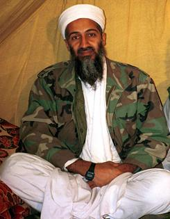 An undated photo of al-Qaeda leader Osama bin Laden in Afghanistan. Linguistics experts are researching whether the words used in terrorist taunts can signal an attack.