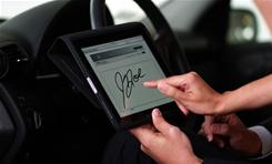Mercedes-Benz Financial Services developed a signature function on the iPad for customers to sign documents at dealerships.