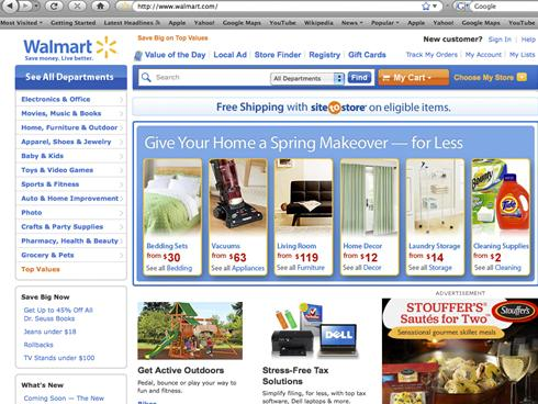 Can you pick up items in store that are bought on the Walmart website?